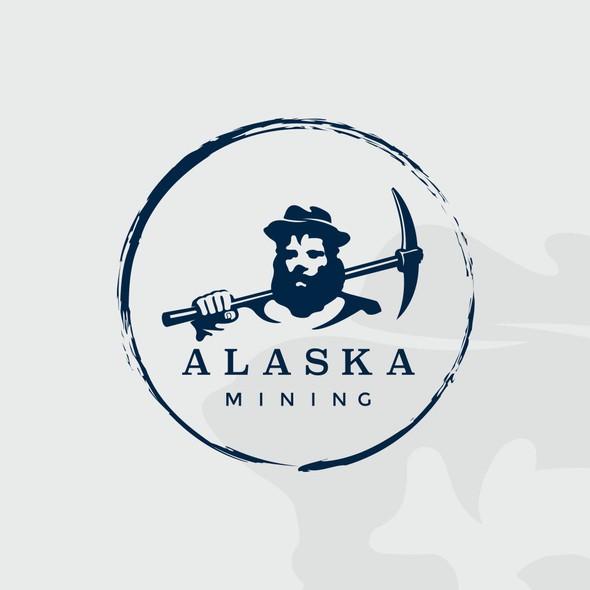 Miner logo with the title 'Alaska mining'