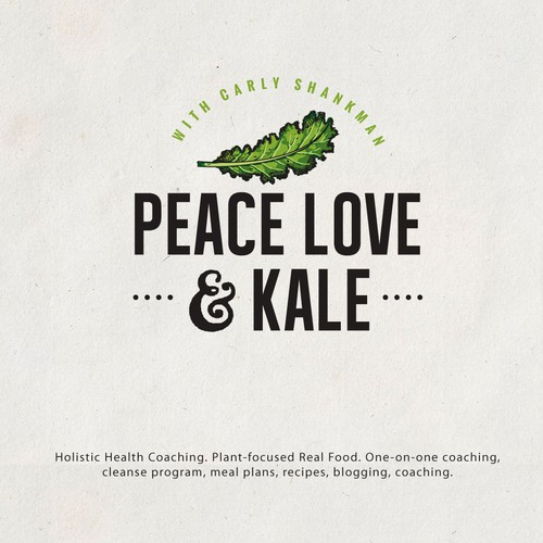 Countryside logo with the title 'Logo for peace love & kale'