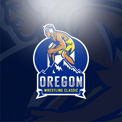 Oregon logo with the title 'Oregon Wrestling Championship'
