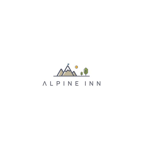Inn logo with the title 'Logo for Alpine Inn'