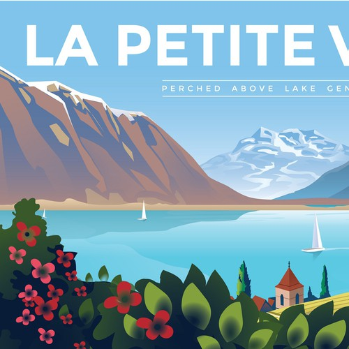 Lake design with the title 'La Petite Vigne'