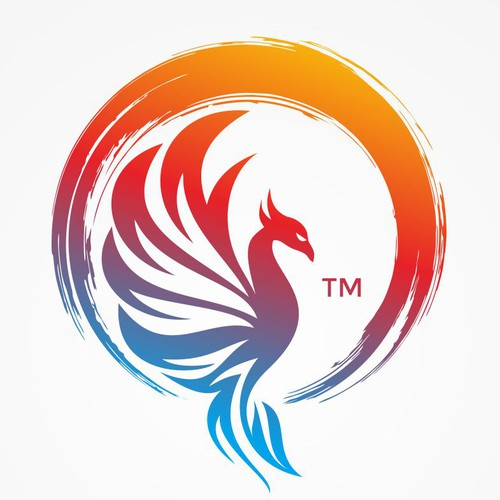 Wood circle logo with the title '(Avaible for 1-to-1 projects) Logo designs with enso zen circle and phoenix'