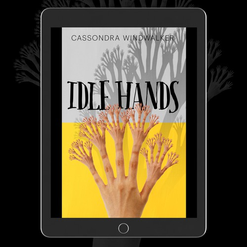 Creepy book cover with the title 'Hands'