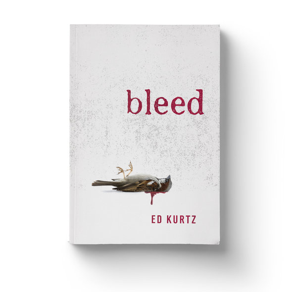 Creepy design with the title 'Simple, Crisp, Bloody - Horror Book Cover'