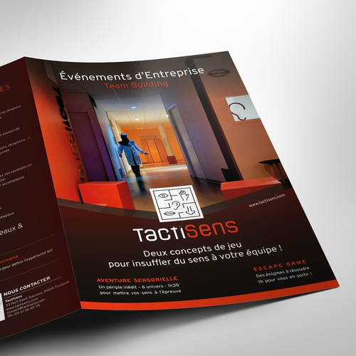 Escape room design with the title 'Brochure'