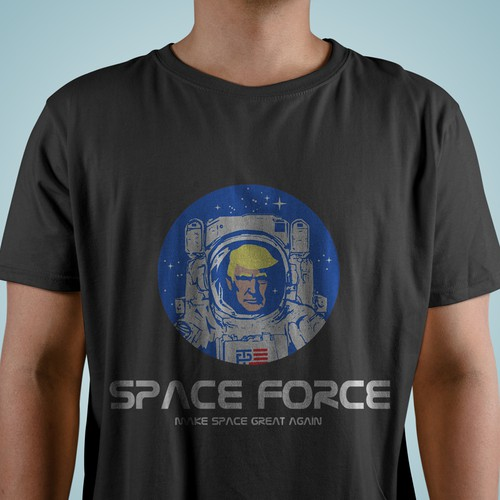 NASA design with the title 'Make space great again'