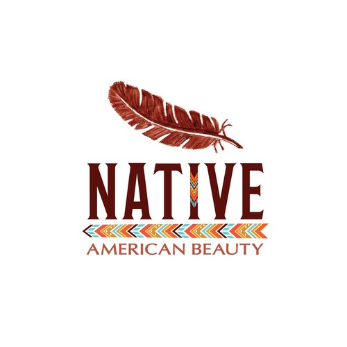 Chief logo with the title 'Native American Beauty'