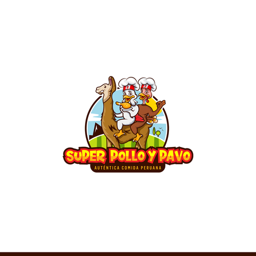 Turkey design with the title 'Super Pollo y Pavo - Peruvian Restaurant - Winning Project'