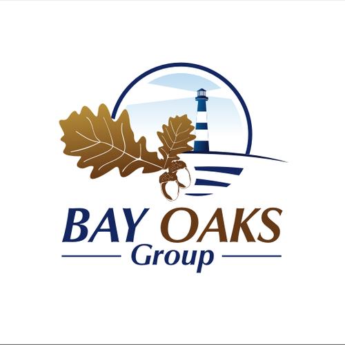 Oak leaf logo with the title 'Bay Oaks Group needs a new logo'