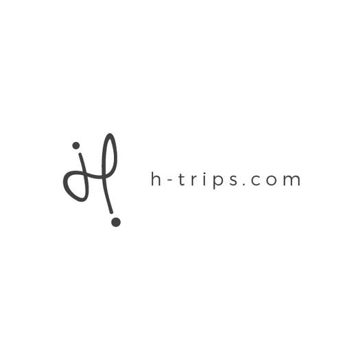 Travel agency design with the title 'Logo concept for travel agency H trips'