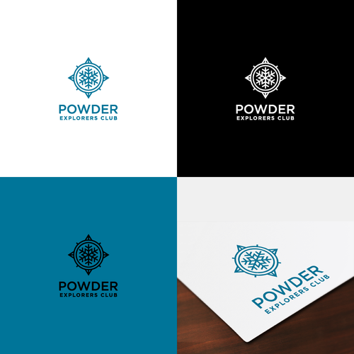 Snowflake logo with the title 'Powder Explorers Club'