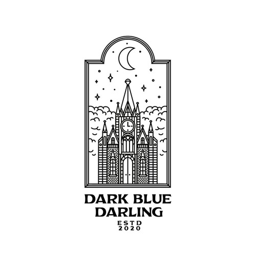 Moonlight logo with the title 'Dark Blue Darling'