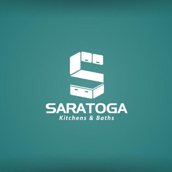 Cabinet logo with the title 'simple logo design for Saratoga '