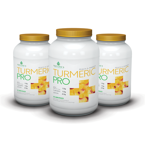 Professional label with the title 'Concept label design for natural supplement'