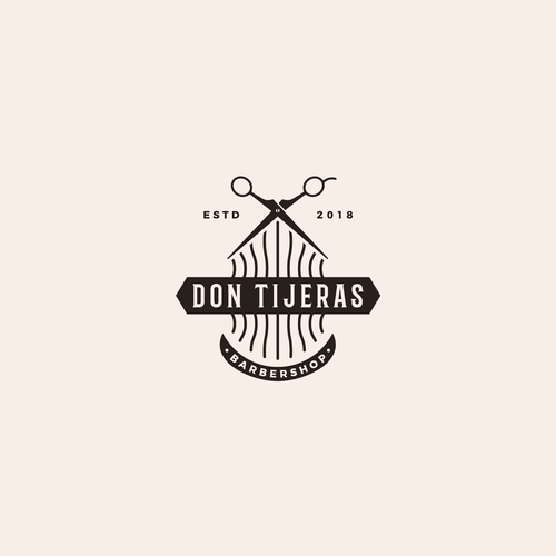 Hair brand with the title 'Logo design for Don Tijeras'
