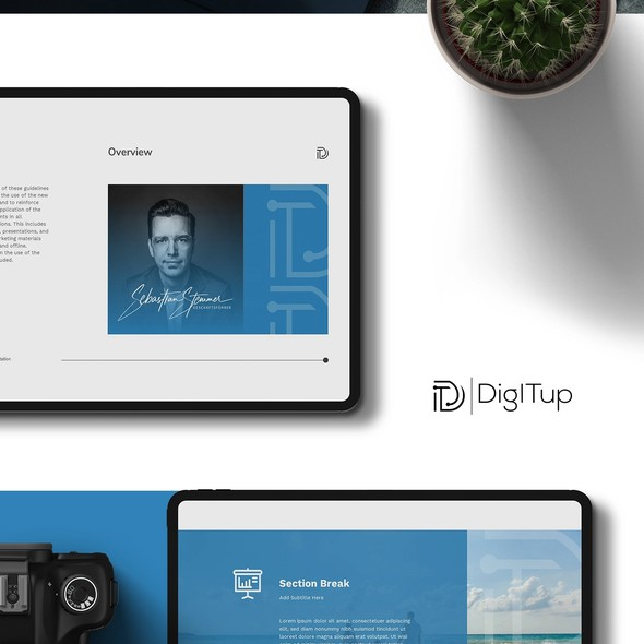 Page design with the title 'Presentation design for IT Consultant'