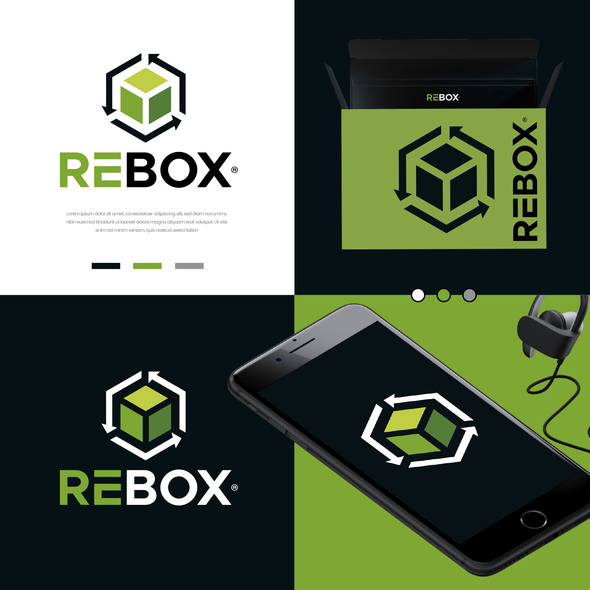 Sustainable design with the title 'REBOX'