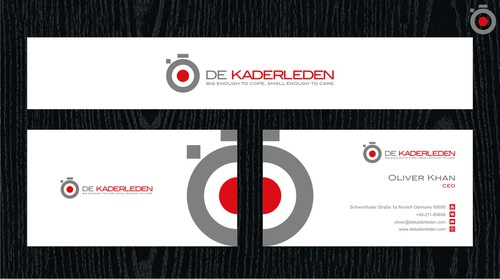 Zero design with the title 'de Kaderleden'