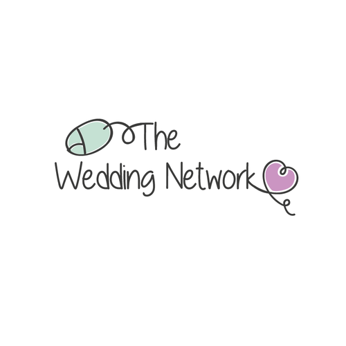 Violet design with the title 'The Wedding Network'