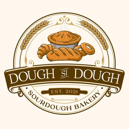 Pie logo with the title 'Dough Si Dough Sourdough Bakery'