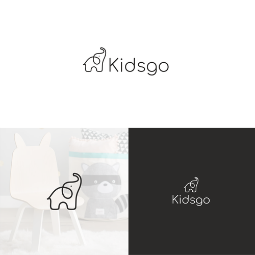 Children logo with the title 'Logo design for kids furniture store'