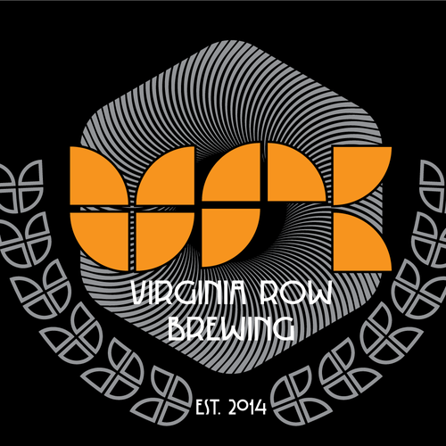 Barley logo with the title 'Virginia Row Brewing'