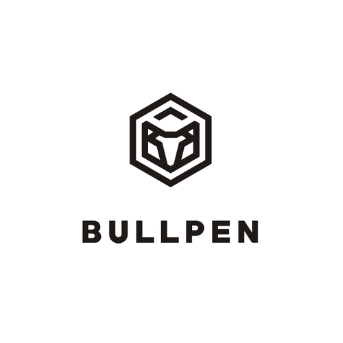 Polygon design with the title 'Modern Bull Head Logo'