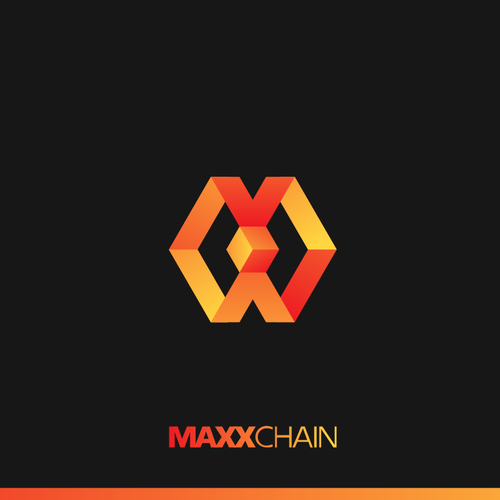 Cryptocurrency logo with the title 'Logo Design For MaxxChain '
