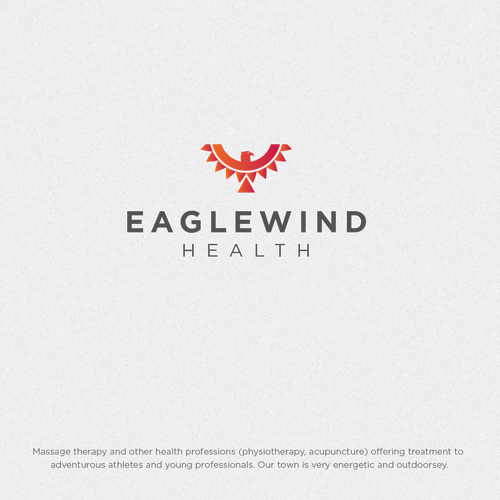 Tribal design with the title 'Eaglewind Health'