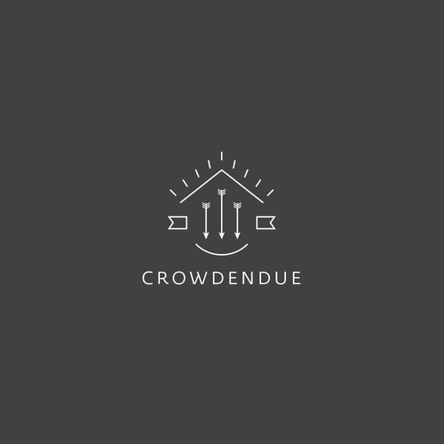 Crowdfunding logo with the title 'Creative Logo for a new crowdfunding platform'
