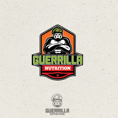 Gorilla logo with the title 'Create a eye catching store logo'