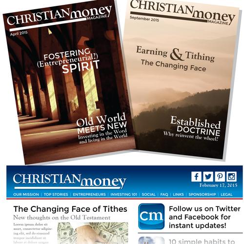 Faith logo with the title 'Create an awesome logo for Christian Money Magazine'