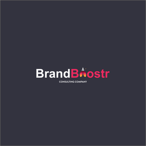 Boost logo with the title 'consulting company logo'