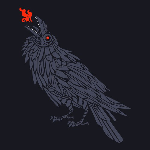 Web design artwork with the title 'New HYROS Raven'