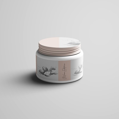 cream label packaging