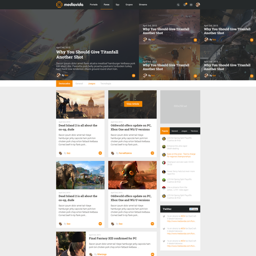 Forum design with the title 'Mediavida'