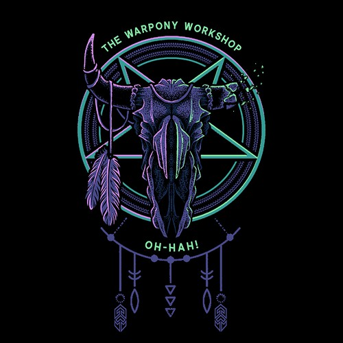 Dreamcatcher design with the title 'The Warpony Clothing Design 2'