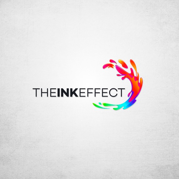 Splash design with the title 'the ink effect branding'