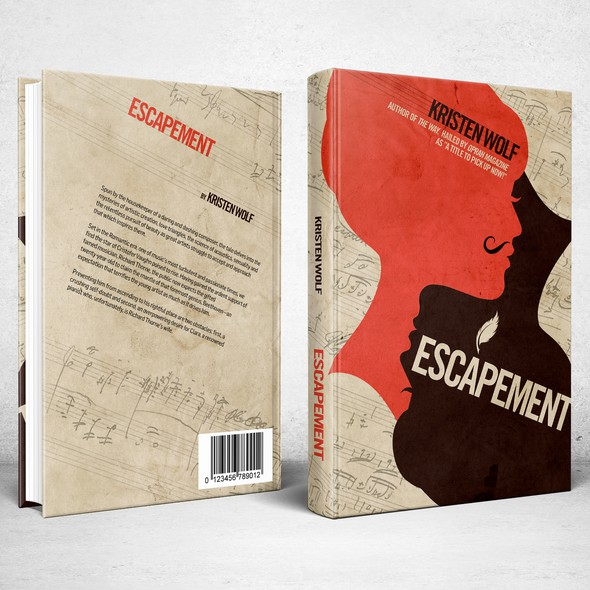 Lesbian design with the title 'Book cover for Escapement'