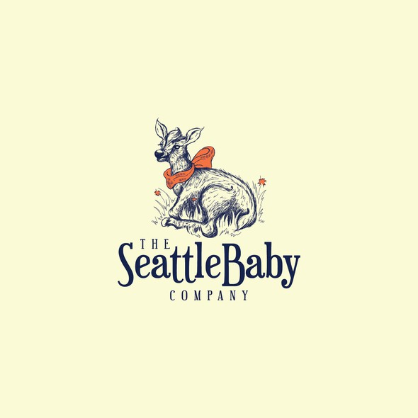 Elk logo with the title 'Baby Elk design for Baby Accessories Company'