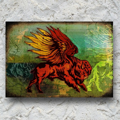 Canvas design with the title 'buffalo'