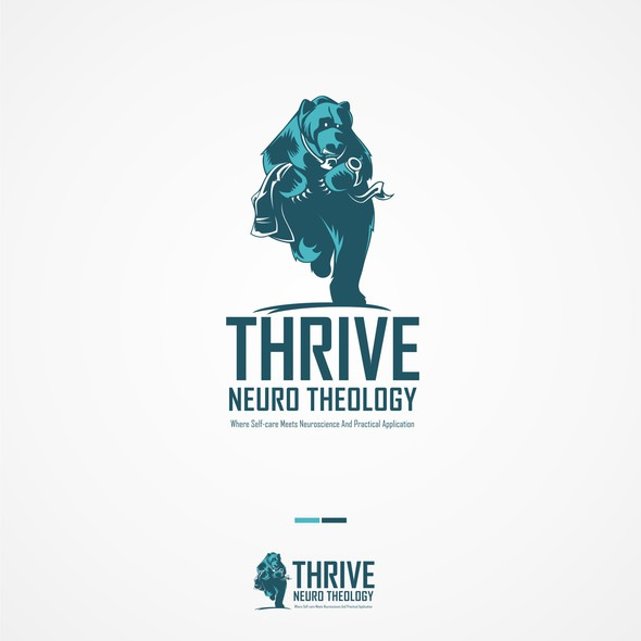 Detailed logo with the title 'thrive'