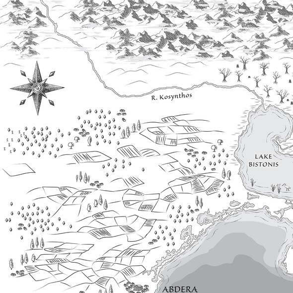 Historical design with the title 'Map for historical fantasy novel'