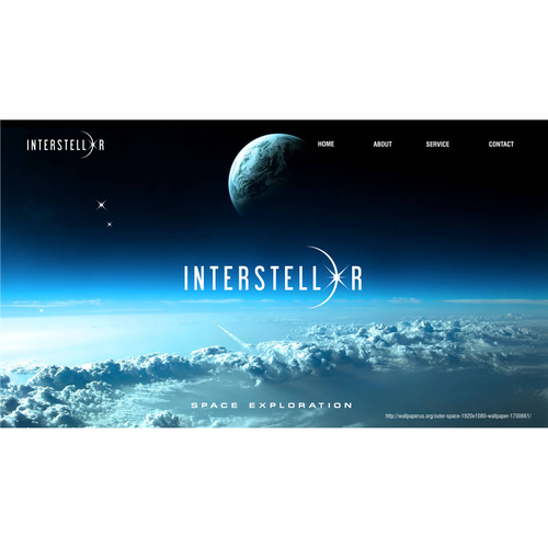 Outerspace design with the title 'Create a cutting edge technology logo for Interstellar'