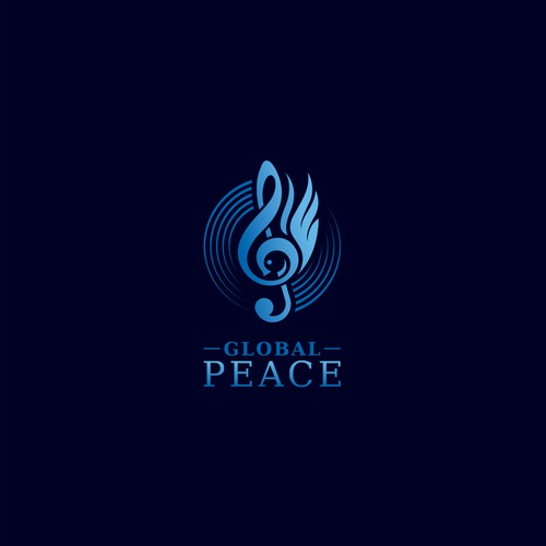Dove logo with the title 'Global Peace Orchestra'