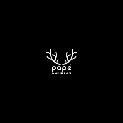 Horn design with the title 'Smart   deer logo for family ranch'