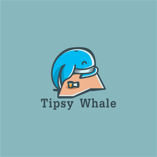 Whale logo with the title 'New beer/booze clothing line! Tipsy Whale!'