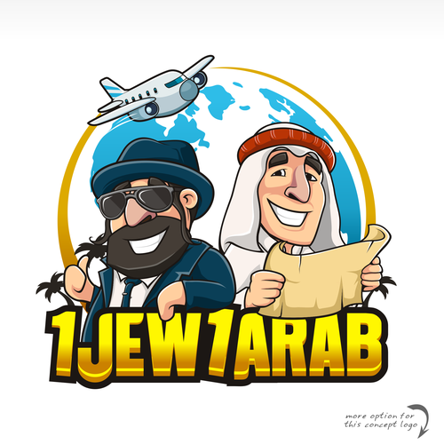 Arabian logo with the title 'Jews n Arab tour travel'