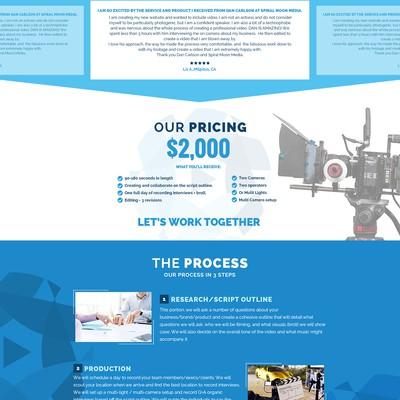 Create an imaginative, elegant, BOLD website for Spiral Moon Media