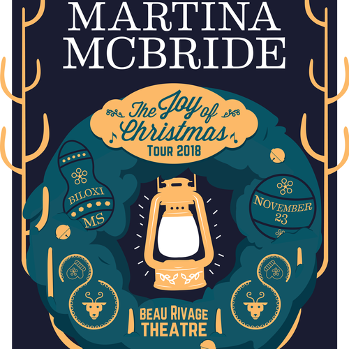 Beacon design with the title 'GigPoster-Martina McBride'